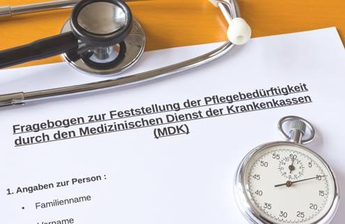 Fragebogen zur Berechnung des Pflegegrades