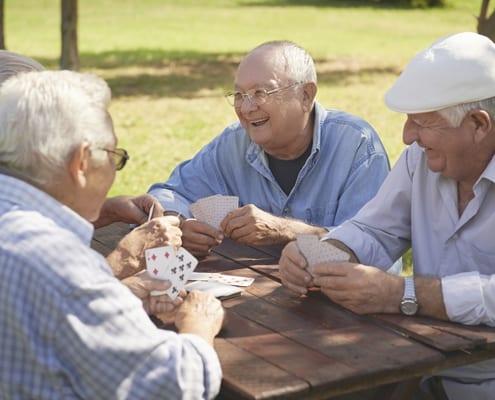 Rentner bei der Freizeitgestaltung im Alter