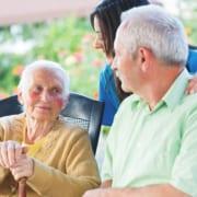 ewohner in Pflegeheim für Demenz in Polen