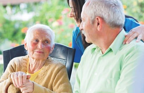 Bewohner in Pflegeheim für Demenz in Polen
