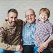 Unbelasteter Angehöriger mit Pflegebedürftigem