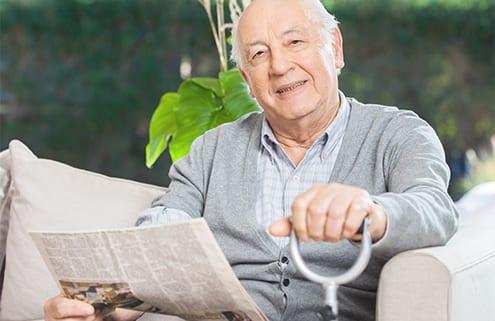 Arthrose-Patient mit Gelenkschmerzen