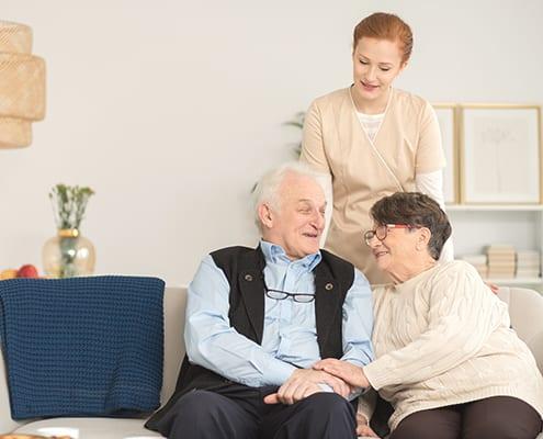 Senioren mit privater Pflege zu Hause