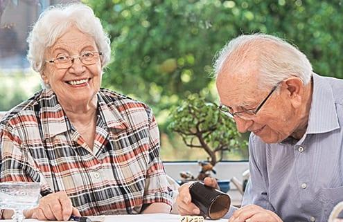Senioren werden ambulant gepflegt