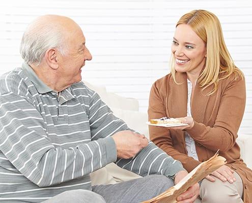 Rentner genießt Betreuung rund um die Uhr