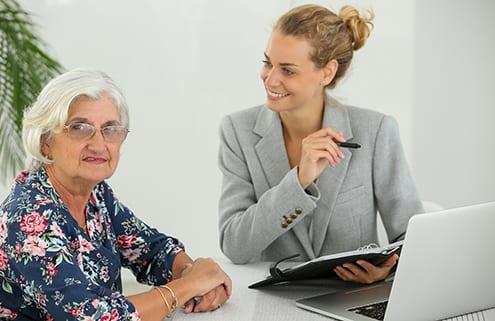 Steuerberaterin mit pflegender Angehörigen